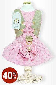 Vestido Rosa Colete