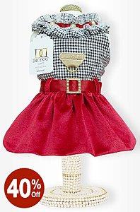 Vestido P&B Vermelho