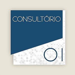 Sinalização Consultório - Modern Blue - Box 10 placas