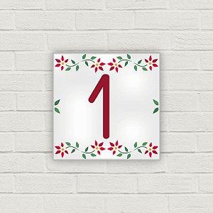 Número Residencial em Cerâmica - Floralia - 10x10cm
