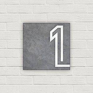 Número Residencial em Cerâmica - Cimento Moderno - 10x10cm