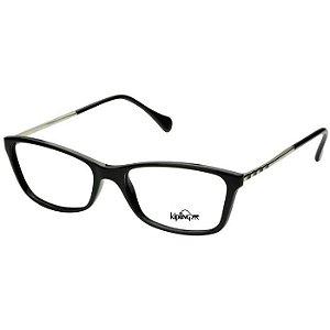 Armação de Óculos Feminino Kipling KP3056 Preto Brilho com Prata