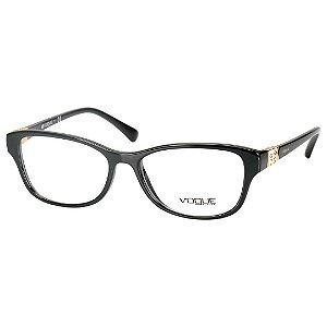 Oculos Vogue de Grau Feminino Médio Preto Brilho  VO5170B