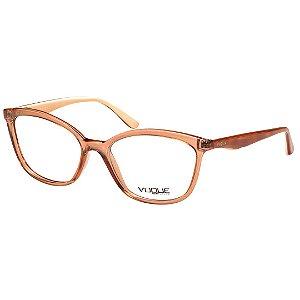 Óculos de Grau Vogue Feminino Médio VO5128 Marrom Translúcido Brilho