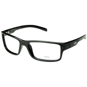 Armação de Óculos HB M93018 Preto Brilho Polytech Médio