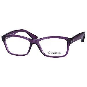 Óculos de Grau Feminino Tecnol TN3024 Roxo Brilho Translúcido