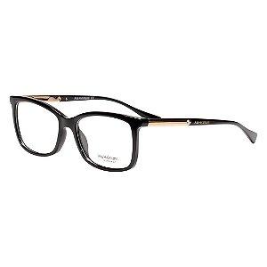 Óculos de Grau Feminino Ana Hickmann AH6266 Acetato Médio Preto Brilho