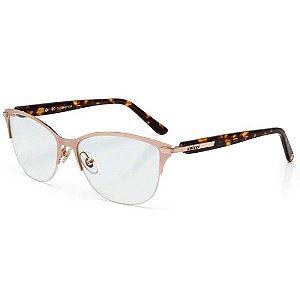 Óculos de Grau Feminino Colcci Metal C6049 Dourado e Marrom Demi Médio