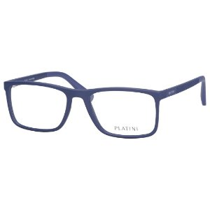 Óculos de Grau Platini Masculino P93144 Azul Fosco Medio