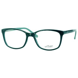 Armação Óculos de Grau Pequeno Feminino Urban 5004 Verde Brilho