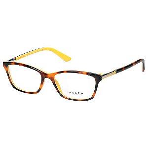 Óculos de Grau Feminino Ralph Lauren RA7044 Marrom Tartaruga com Amarelo