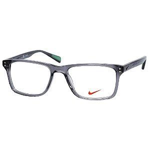 Óculos de Grau Nike 7243 Cinza Fumê Translúcido Brilho Médio