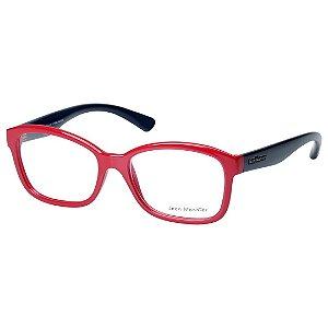 Óculos de Grau Jean Monnier J83140 Vermelho Brilho com Azul Feminino