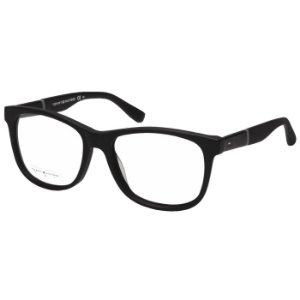Óculos de Grau Tommy Hilfiger Preto Fosco TH1406 Acetato