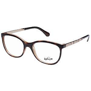 Armação de Óculos Kipling KP3080 Marrom Demi Brilho e Dourado