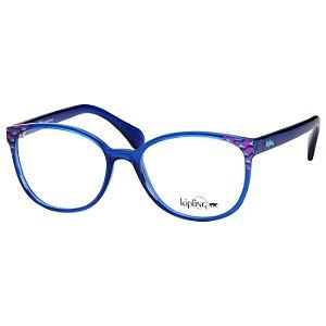 Óculos Feminino de Grau Kipling KP3109 Azul Translúcido Pequeno