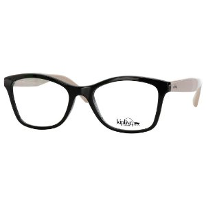 Óculos de Grau Feminino Kipling KP3087 Acetato Preto Brilho e Bege