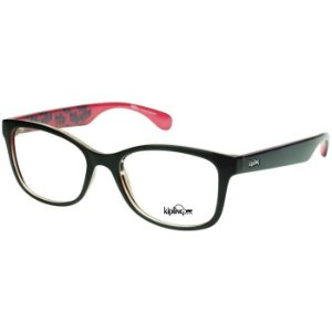 Óculos de Grau Feminino Kipling KP3064 Preto Brilho com Rosa