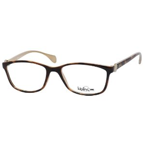 Óculos de Grau Feminino Kipling KP3060 Pequeno Marrom Demi com Bege