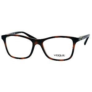 Óculos de Grau Feminino Vogue VO5028 Marrom Demi Médio