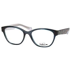 Óculos de Grau Kipling KP3102 Verde Petróleo Translúcido Brilho
