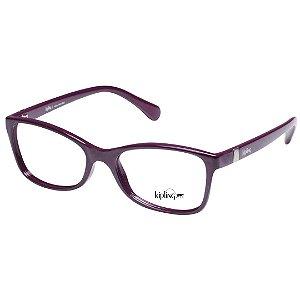 Óculos de Grau Kipling Feminino KP3086 Acetato Roxo Brilho Pequeno