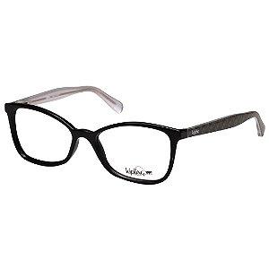 Óculos de Grau Kipling KP3092 Preto Brilho com Estampa Verde