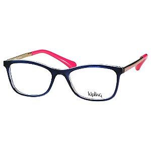Óculos Kipling Feminino KP3107 Azul com Dourado e Rosa Brilho