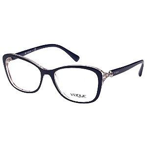Armação de Grau Feminina Vogue Acetato VO5095B Azul Brilho Médio