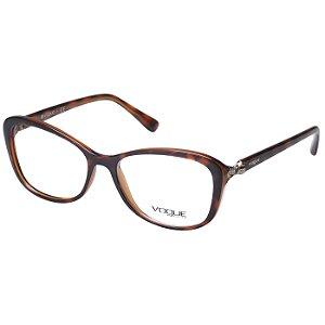 Óculos de Grau Feminino Vogue VO5095 Marrom Demi Acetato Médio