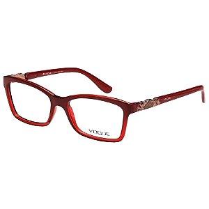 Óculos de Grau Vogue Feminino VO2982L Acetato Vermelho Brilho Médio