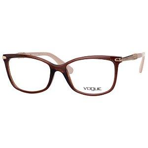 Óculos de Grau Vogue VO5125L Feminino Marrom Translucido com Bege