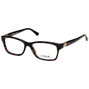 Óculos de Grau Vogue VO2765 Marrom Demi Feminino Acetato Médio