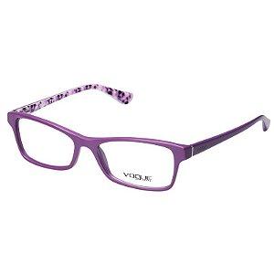 Óculos Vogue de Grau Feminino VO2886 Acetato Roxo Fosco