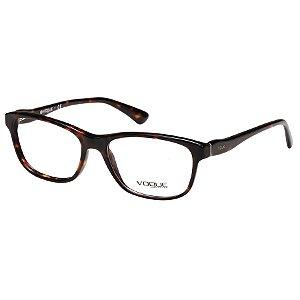 Óculos de Grau Feminino Vogue VO2908 Marrom Tartaruga Brilho Médio