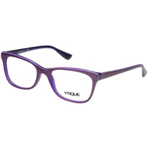 Óculos de Grau Vogue VO2763 Feminino Lilás com Azul Brilho Acetato Médio