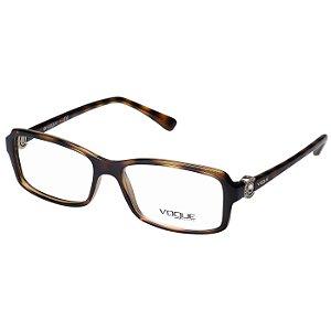 Óculos de Grau Feminino Vogue VO5001 Marrom Demi Brilho Acetato Médio