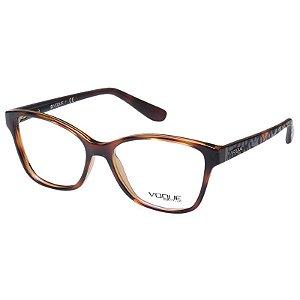 Óculos de Grau Feminino Vogue VO2998 Marrom Demi Brilho Acetato Médio