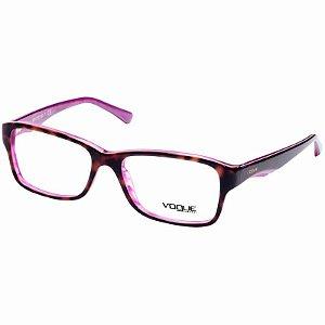 Óculos de Grau Feminino Vogue VO2883 Marrom Demi com Roxo Médio