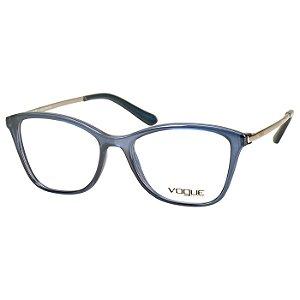 Oculos Vogue de Grau Azul com Prata VO5152L Feminina Médio