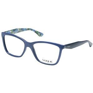 Óculos de Grau Vogue VO5018 Adriana Lima Acetato Azul Brilho