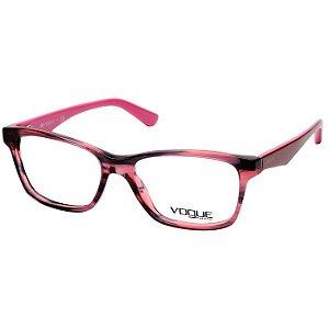 Óculos de Grau Vogue Feminino Rosa Escuro com Pink e Rosa Cristal VO2787 Acetato Médio