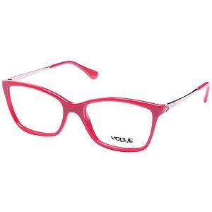 Óculos de Grau Feminino Vogue VO5043 Vermelho Cereja Médio