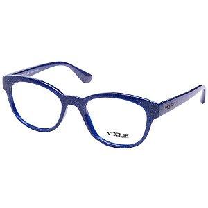 Óculos de Grau Feninino Vogue VO2934 Azul com Glitter Acetato Médio