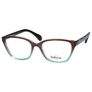 Óculos de Grau Feminino Kipling KP3099 Marrom com Azul Degradê