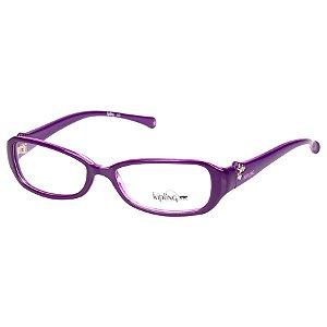 Óculos de Grau Kipling KP3021 Feminino Roxo Brilho Pequeno