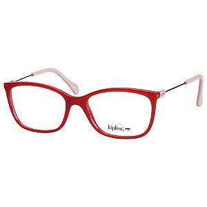 Óculos Feminino de Grau Vermelho Brilho e Rosa Kipling KP3105