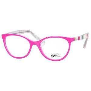 Óculos de Grau Infantil Kipling KP3108 Rosa Brilho Estampado