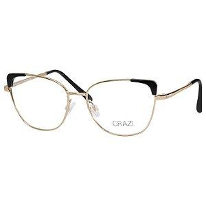 Óculos Grazi Massafera GZ1013 Metal Dourado e Preto Feminino