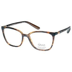 Oculos de Grau Grazi GZ3035B Marrom Tartaruga Translucido com Cristal Swarovski